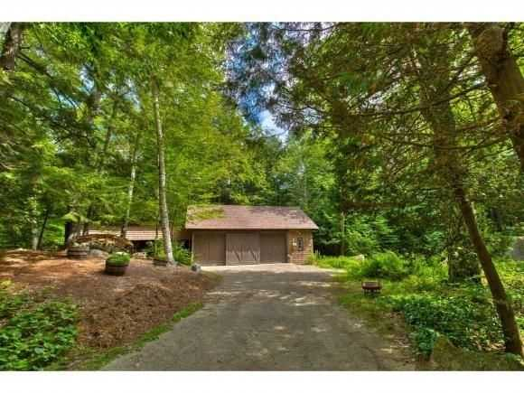 The home has a two-bay boathouse on the property.
