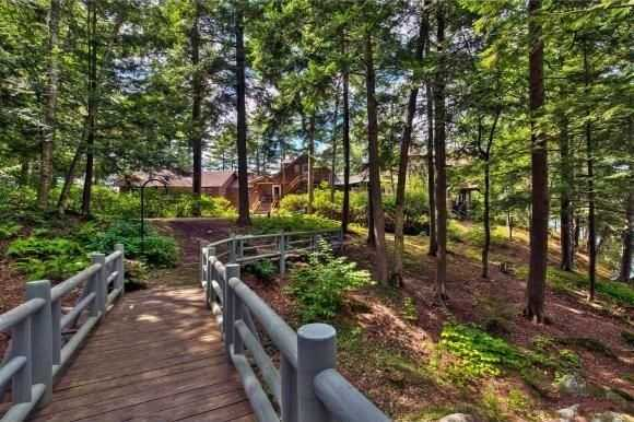 The property offers plenty of walking space though wooded areas.