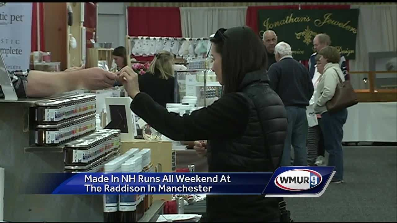 The Made in New Hampshire Expo is underway, featuring locally made products and services.