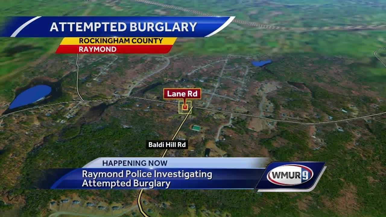 Raymond police are investigating an attempted burglary on Wednesday night.
