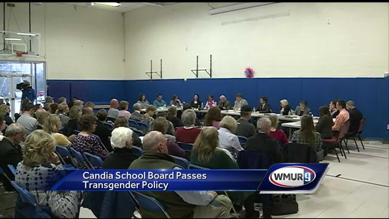The Candia School Board passed a controversial new policy Thursday night that allows transgender students to use the bathroom they choose.