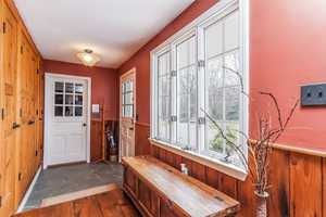 The home has a mudroom for easy entrance inside.