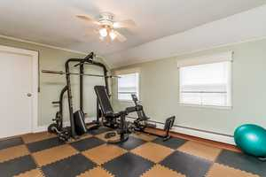 The home has space for all your fitness needs.