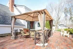 A large outdoor canopy will shade folks from the hot summer sun.