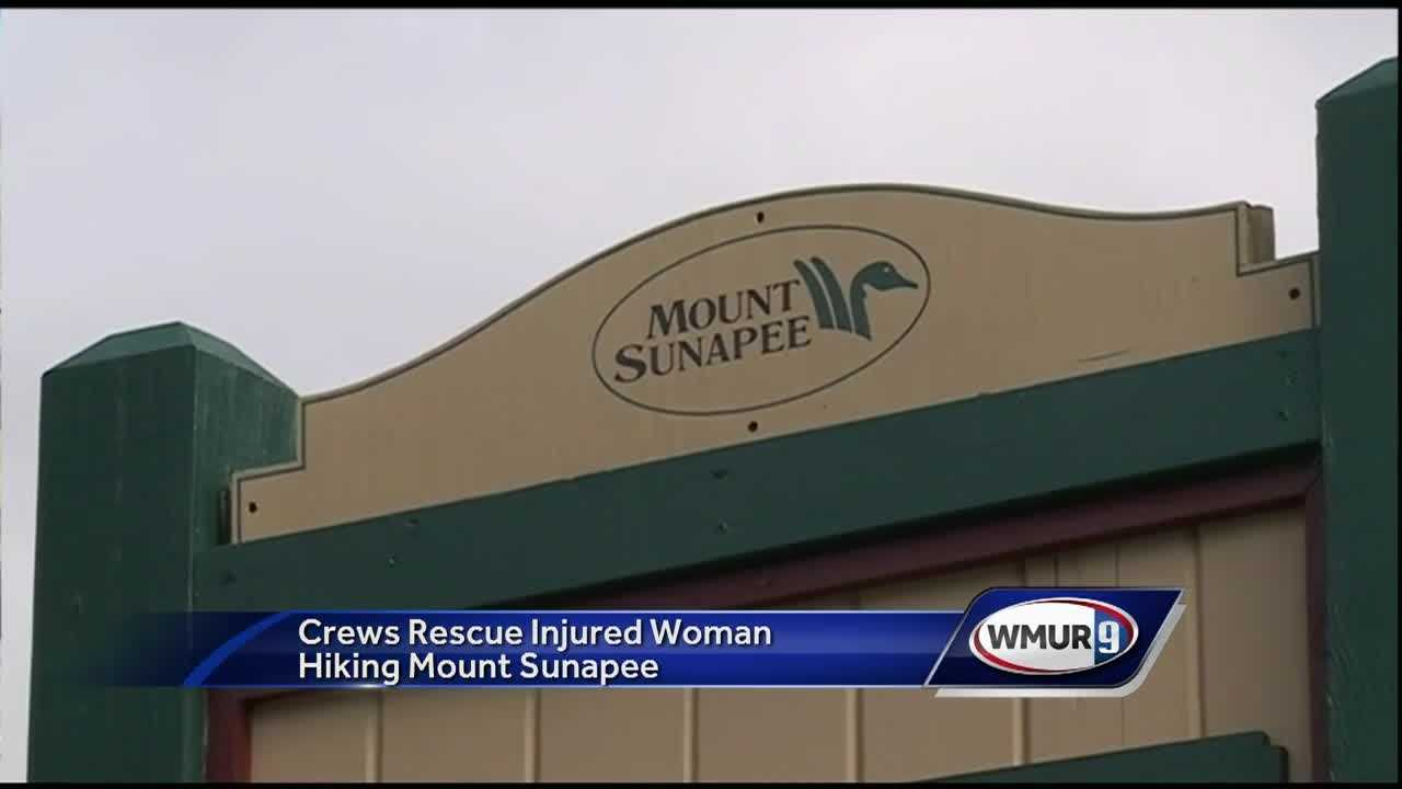 Crews rescued a woman who was injured while hiking Mount Sunapee Sunday afternoon.