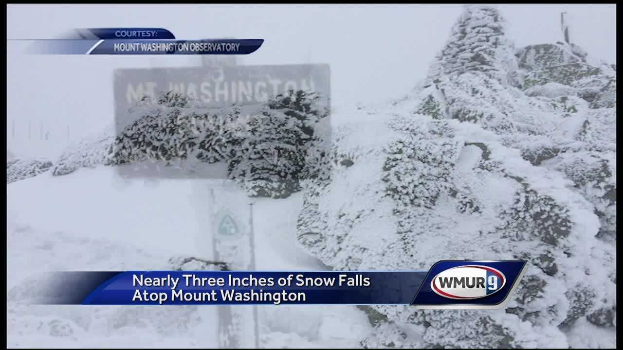 Mount Washington and Cannon Mountain, as well as other areas of the Granite State, received some spring snow.