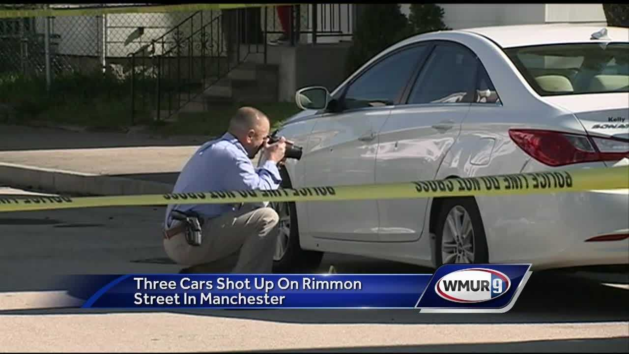 Three vehicles were damaged by gunfire early Tuesday morning on Manchester's west side.