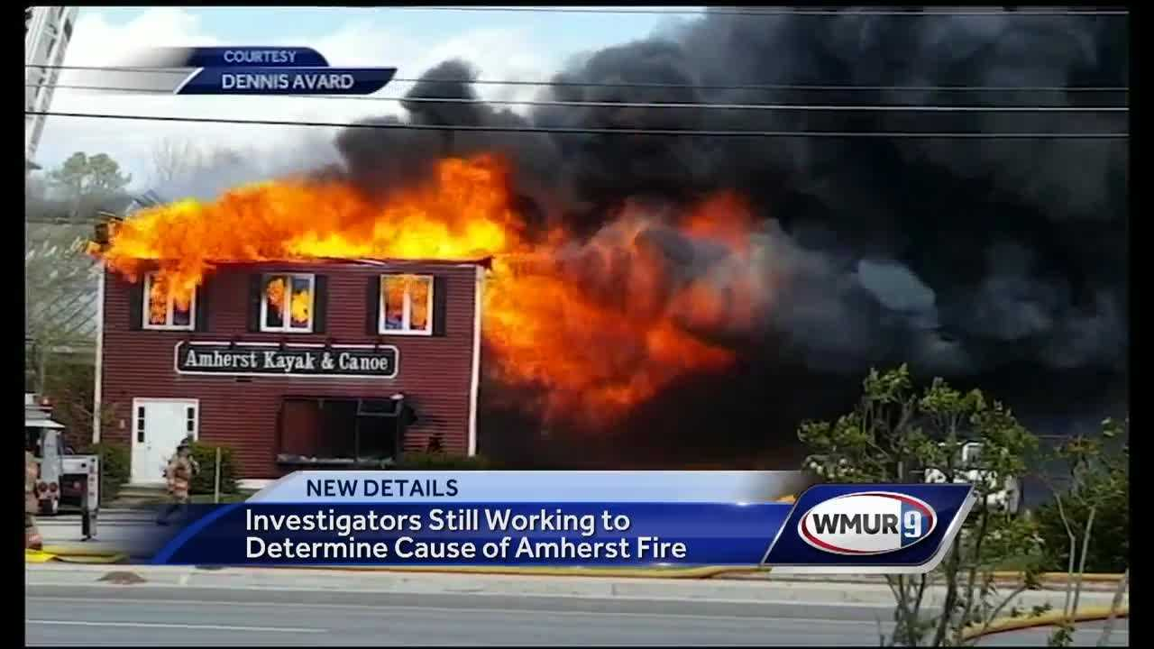 Investigators continue to look for what caused a massive fire in Amherst on Monday.
