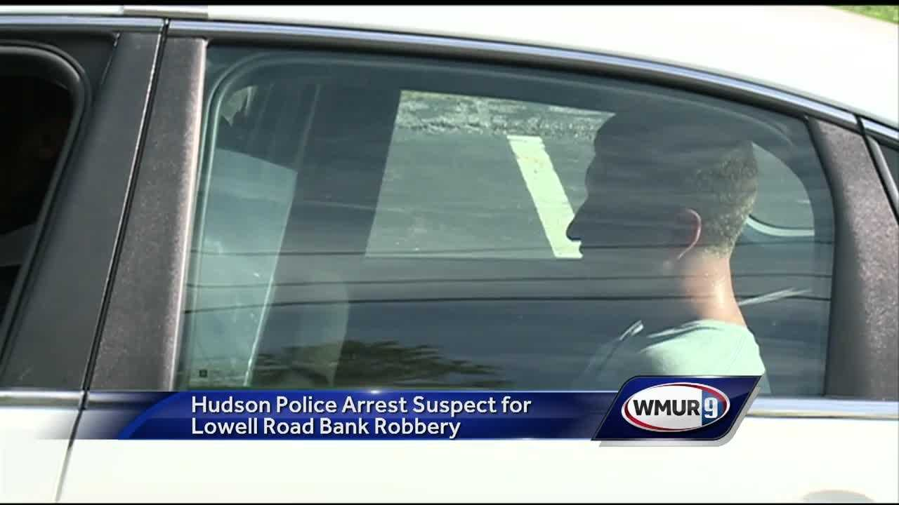 A man accused of robbing a bank in Hudson was arrested Tuesday evening.