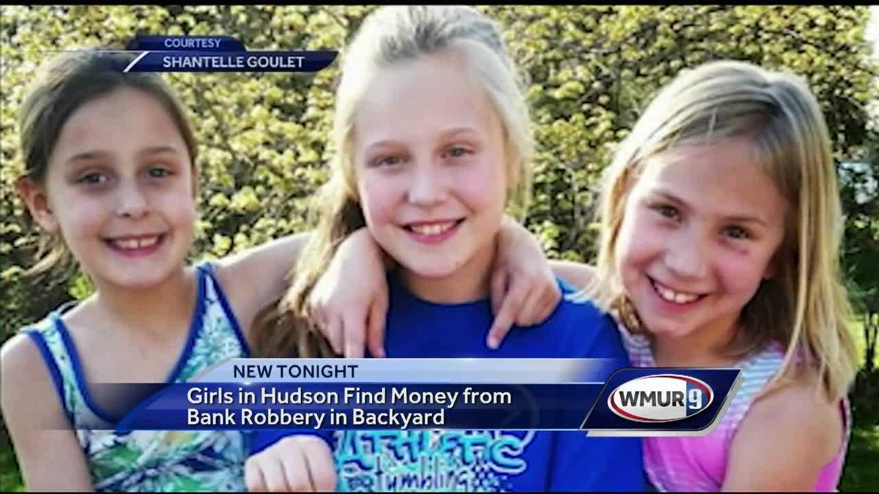 Three young girls were rewarded for their honesty after they turned in allegedly stolen cash they found in a back yard Wednesday, according to one Hudson woman's Facebook post.
