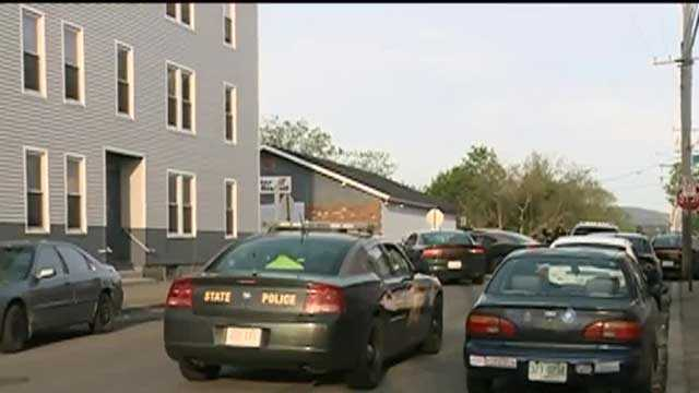 Police in Manchester are investigating after two officers were shot Friday morning.