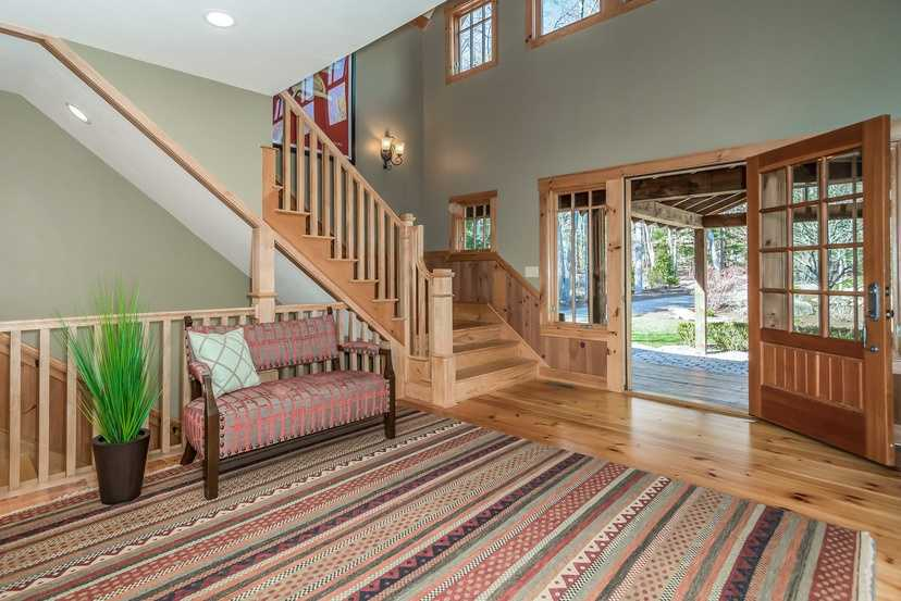 The home has an expansive foyer.