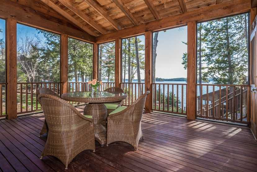 The home has a screened porch for outdoor enjoyment.