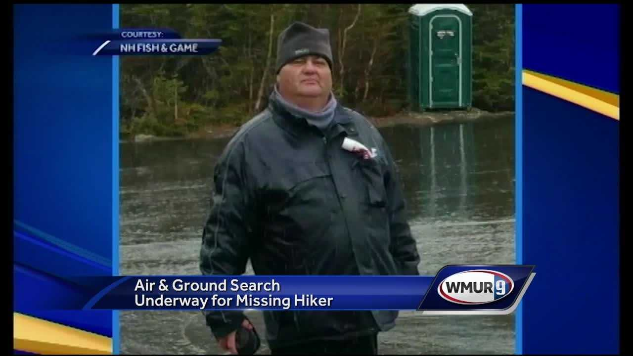 The search for a missing hiker from Canada continued Friday as crews looked for the 48-year-old man last seen in the area of Pinkham Notch on Monday.
