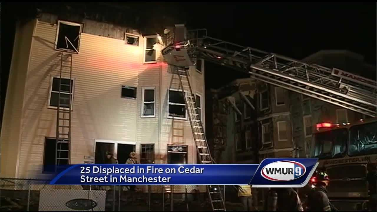 25 people have been displaced after an early morning fire in Manchester.