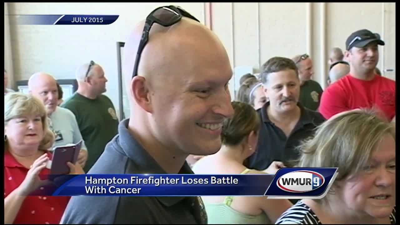 A firefighter in Hampton has died after a long battle with non-hodgkins lymphoma.