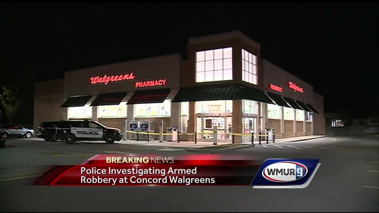 Police are investigating an armed robbery at the Walgreens in Concord on Loudon Road.