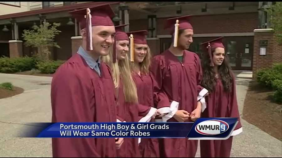Portsmouth High adopts same graduation gowns for boys, girls