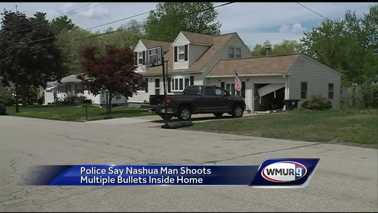 A Nashua man is facing several charges after police said he fired more than a dozen bullets inside his home, putting officers and neighbors in danger.