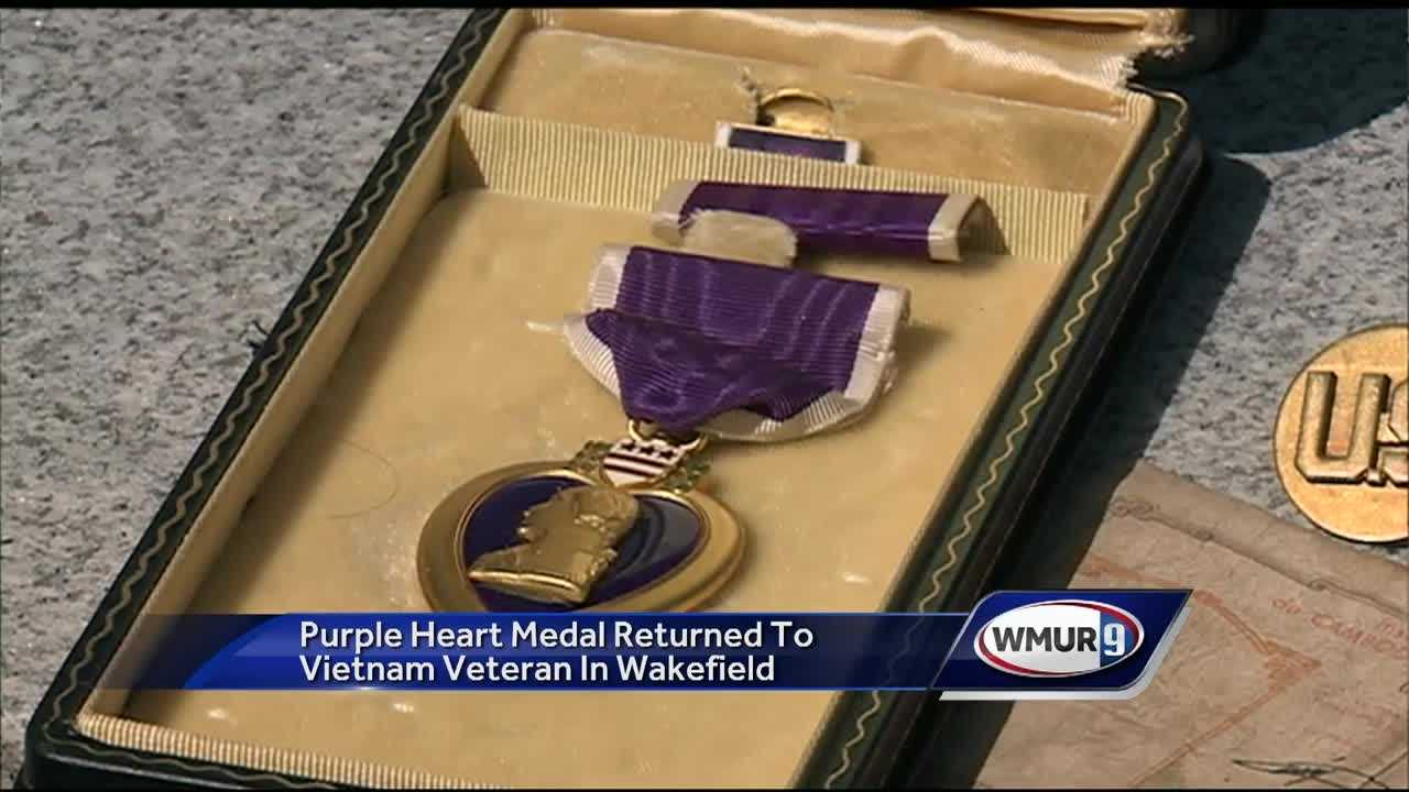 One military veteran helped another Thursday when he was able to return a lost Purple Heart.