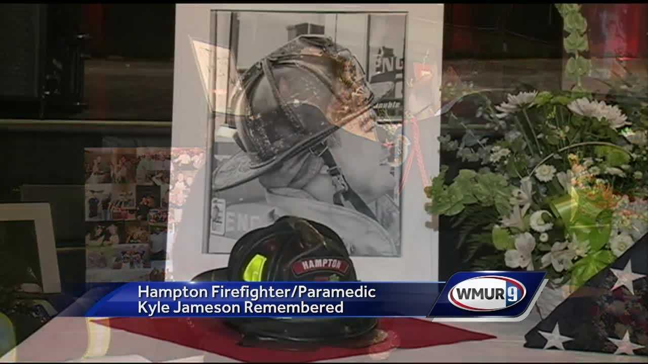 Friends, family, and firefighters celebrated the life of Hampton firefighter and paramedic at Hampton Beach.