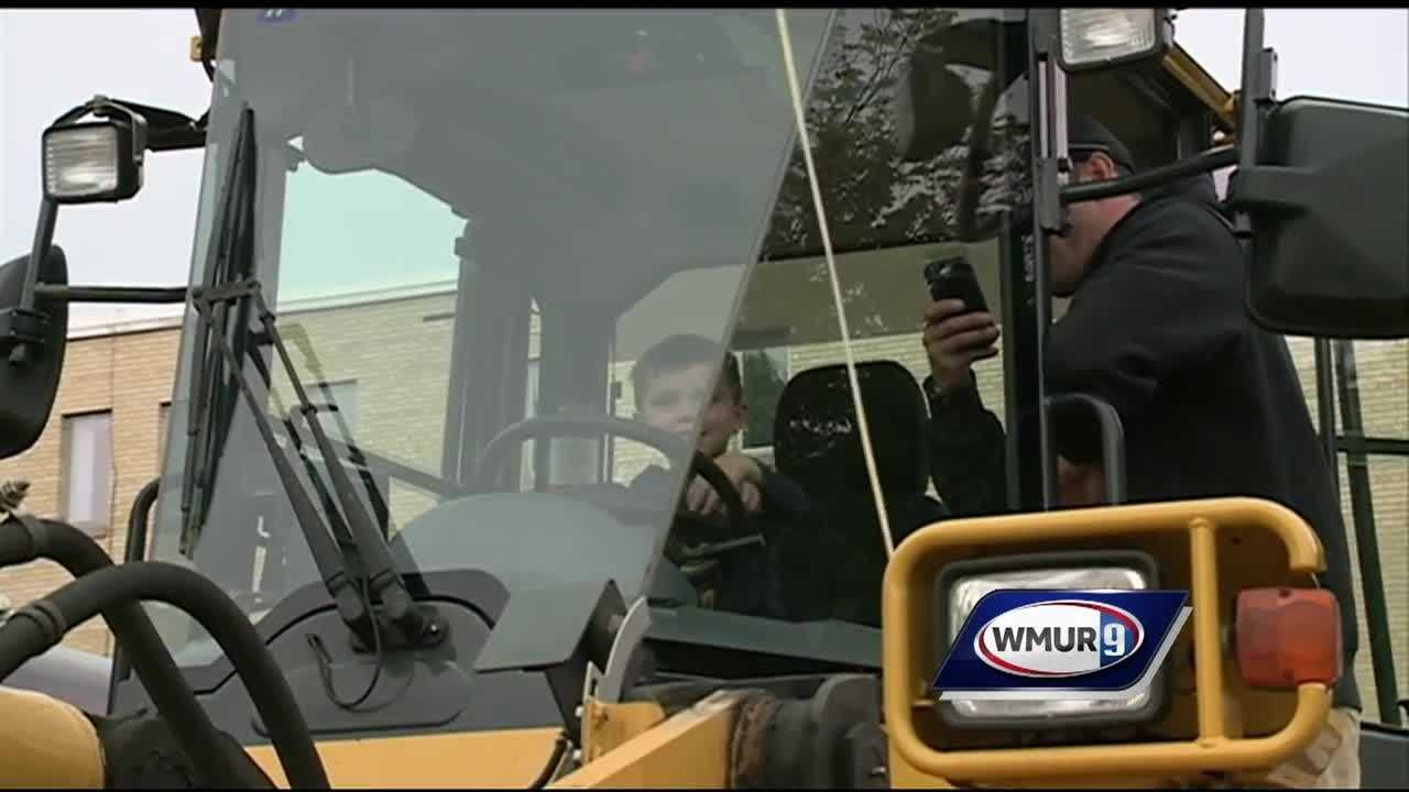 "Families in Salem had the chance to ""touch a truck"" Sunday."