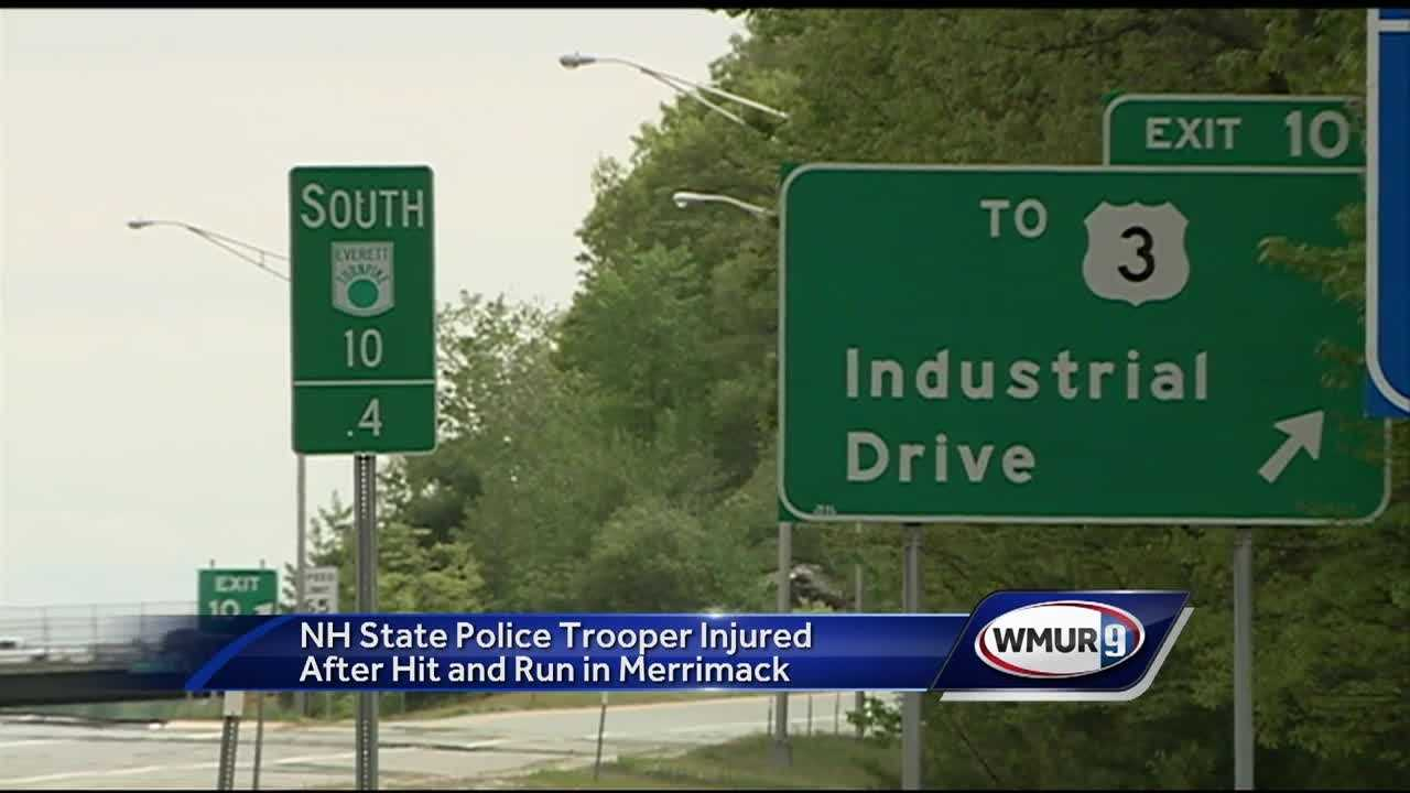 Police say a trooper was conducting a traffic stop when he became the victim of a hit and run.