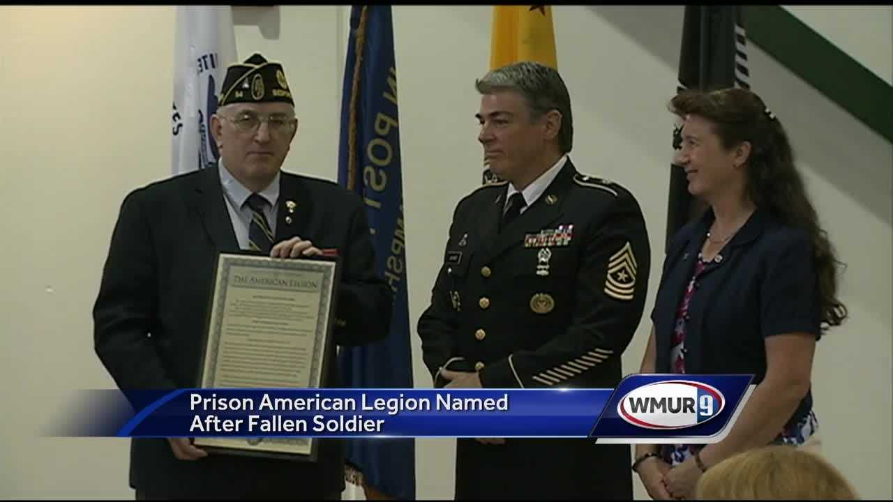 A New Hampshire Army veteran killed while serving his country was remembered in a ceremony Tuesday at the state prison.