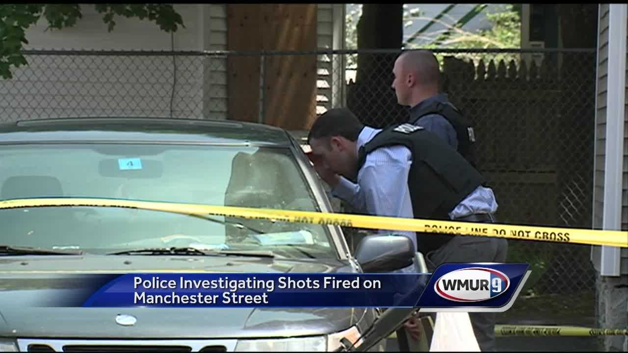 Police in Manchester are looking for two people in connection with shots that were fired on a street Thursday morning.