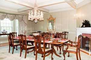 A look at the home's dining area.