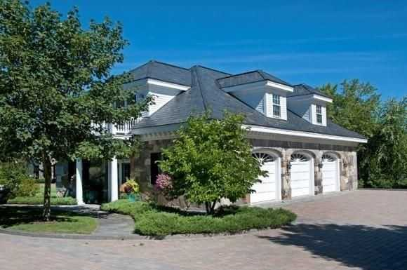 The home has a large three-car garage.