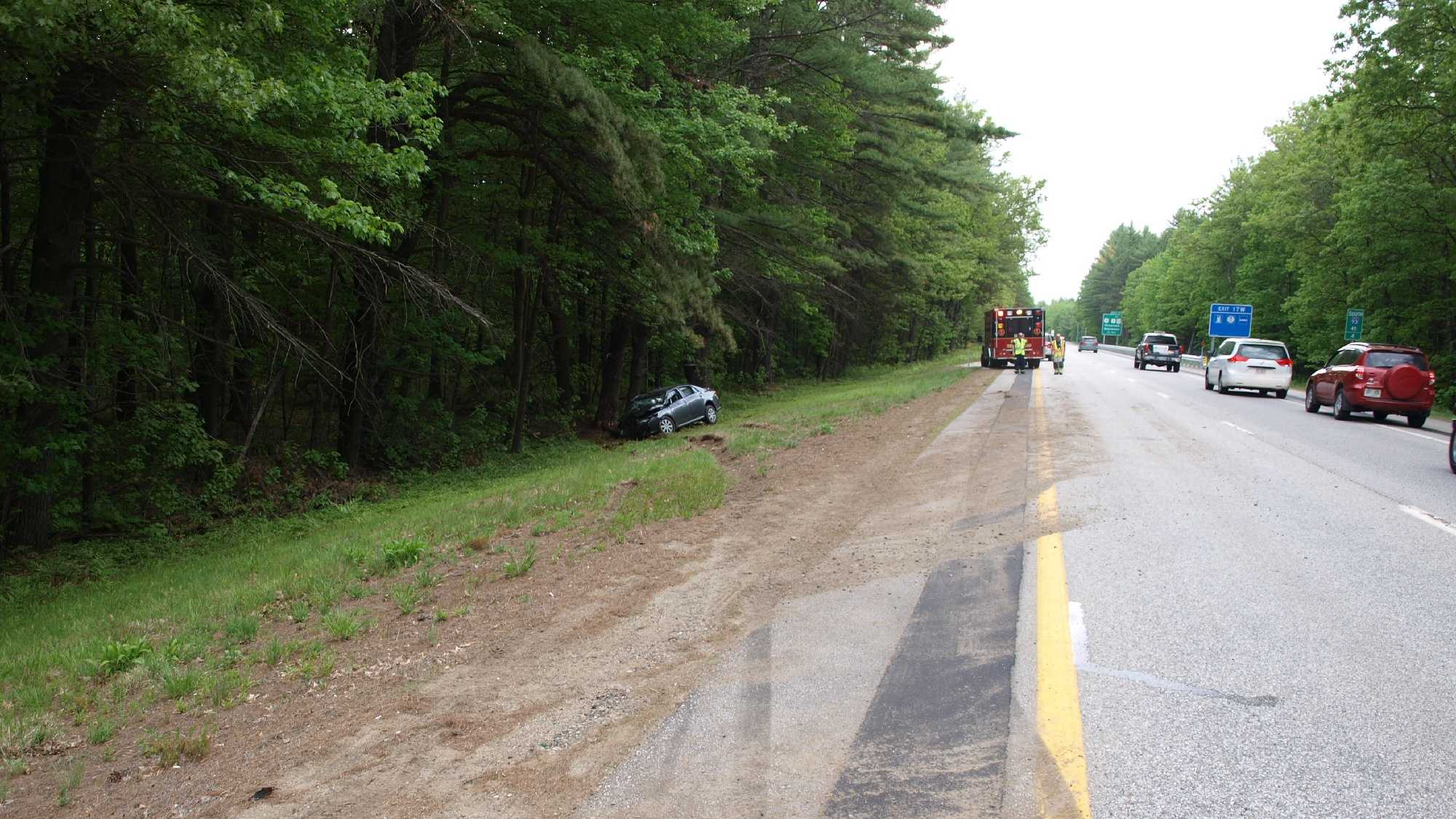 A Durham man was killed in a car crash on Interstate 93 in Canterbury Saturday afternoon.