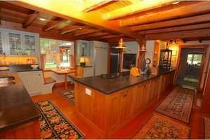 The home has a large kitchen space.