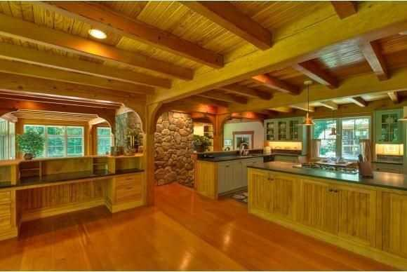 Here's a look at the wonderful woodwork inside the home.