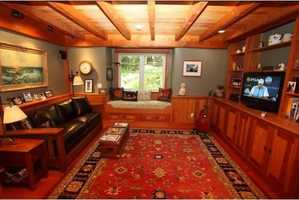 The home has a large family living space.