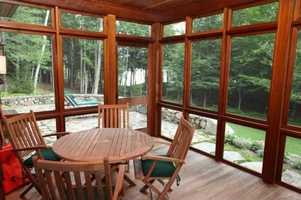 The home has two screened porches.