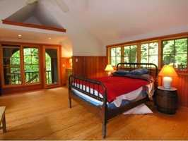 Here's a look at one of the bedrooms inside the guest house.
