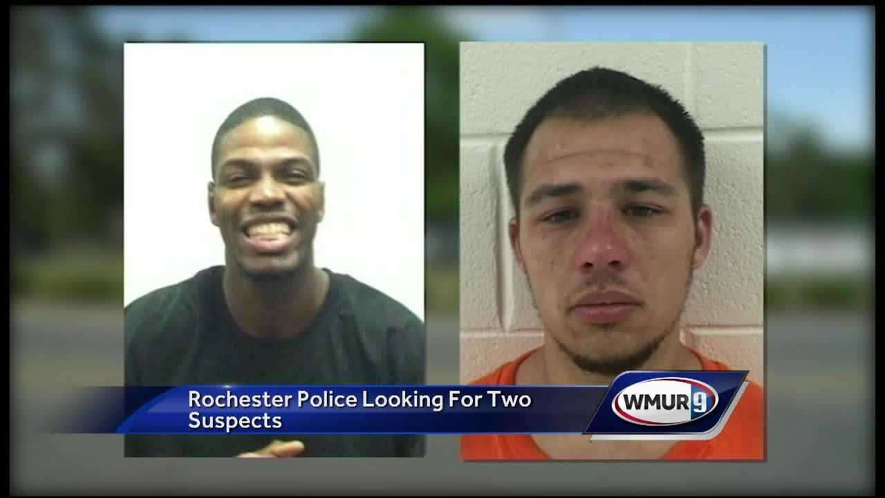 Two suspects are still at large, wanted for break ins in May.