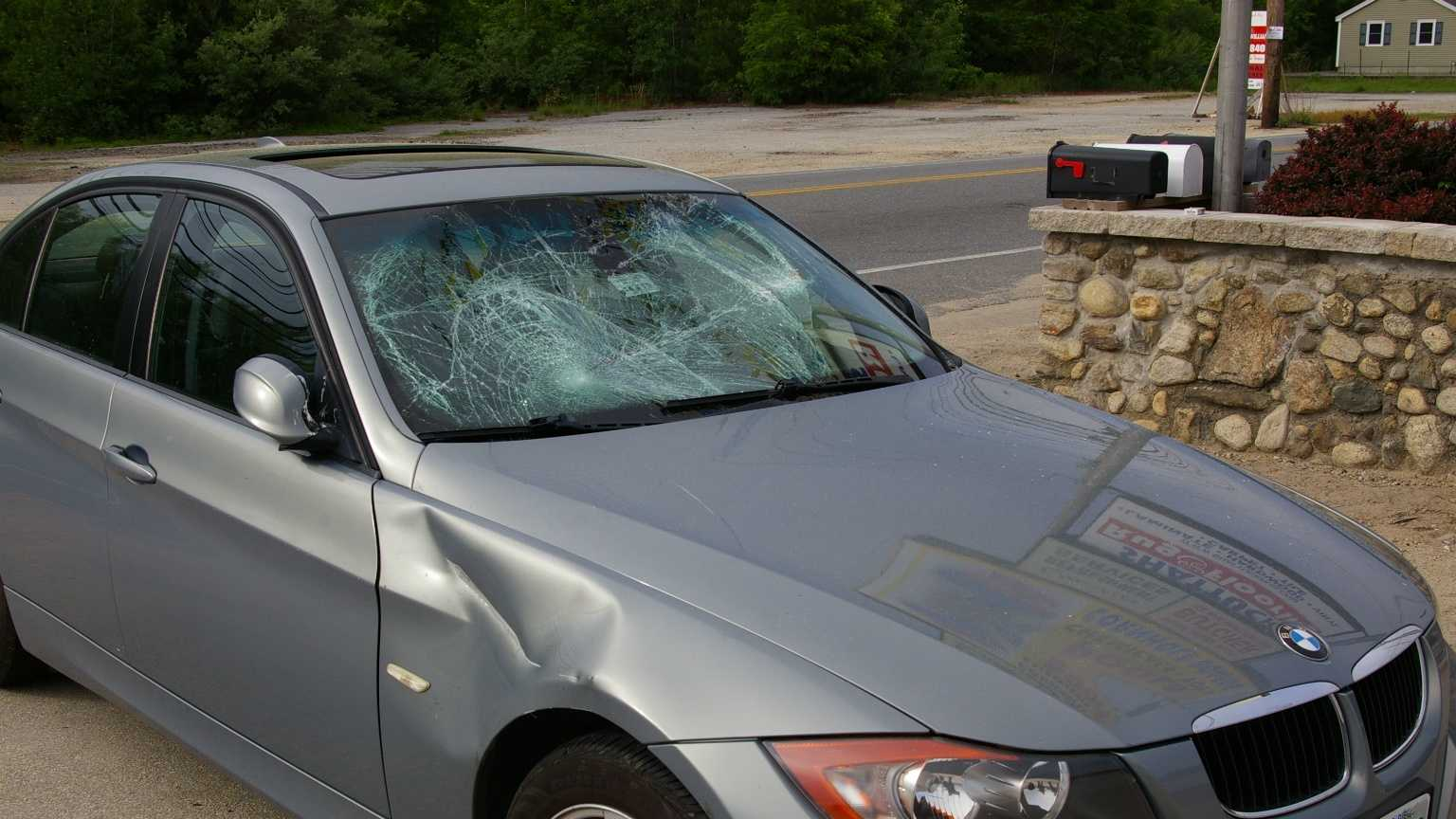 A bicyclist is recovering after being hit by a car Saturday in Hudson.