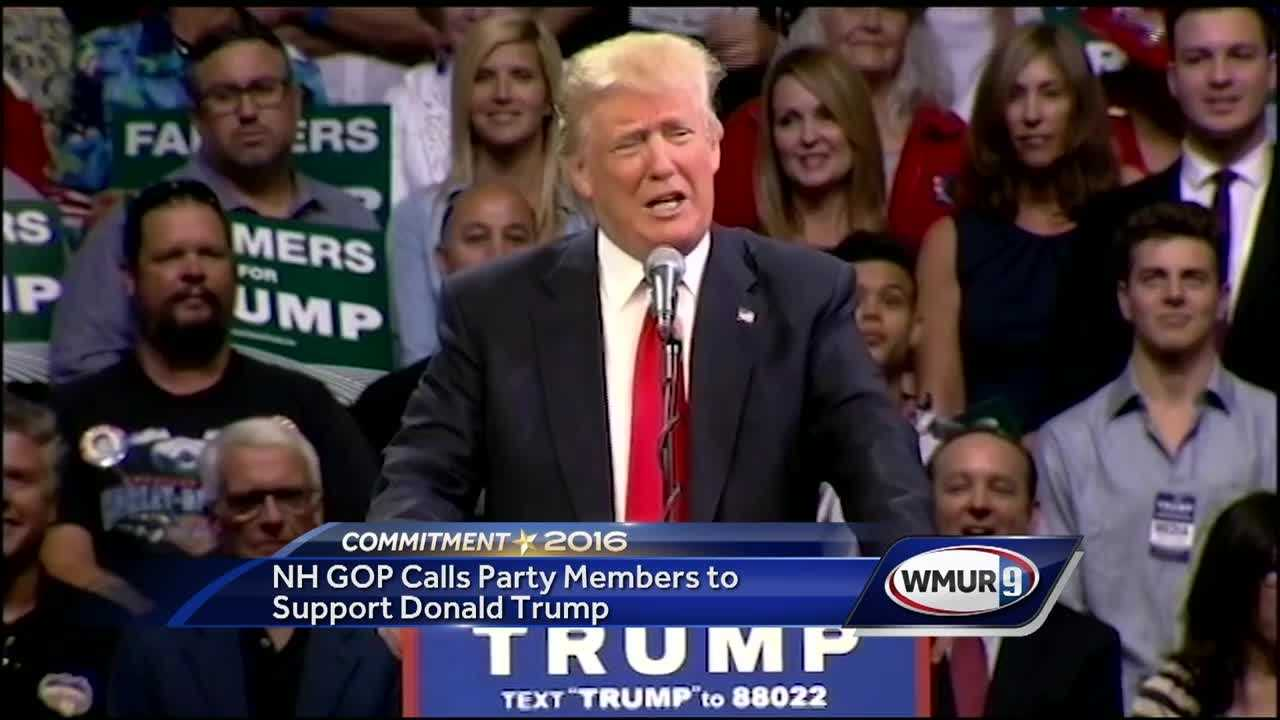 New Hampshire Republicans want party members to support Donald Trump in the race for the White House.