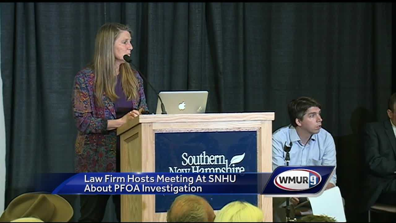 The law firm Weitz & Luxenberg held a meeting at Southern New Hampshire University about PFOA investigation.