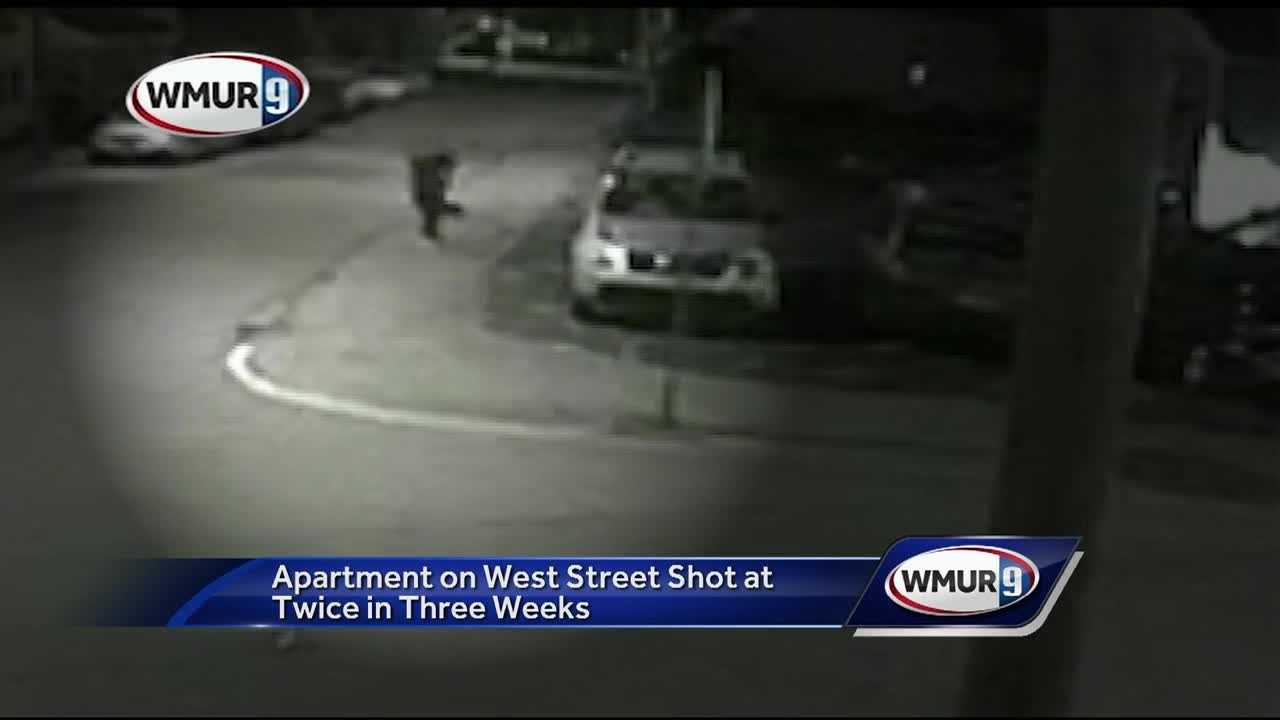 A Manchester apartment has been hit by gunfire for the second time in three weeks.