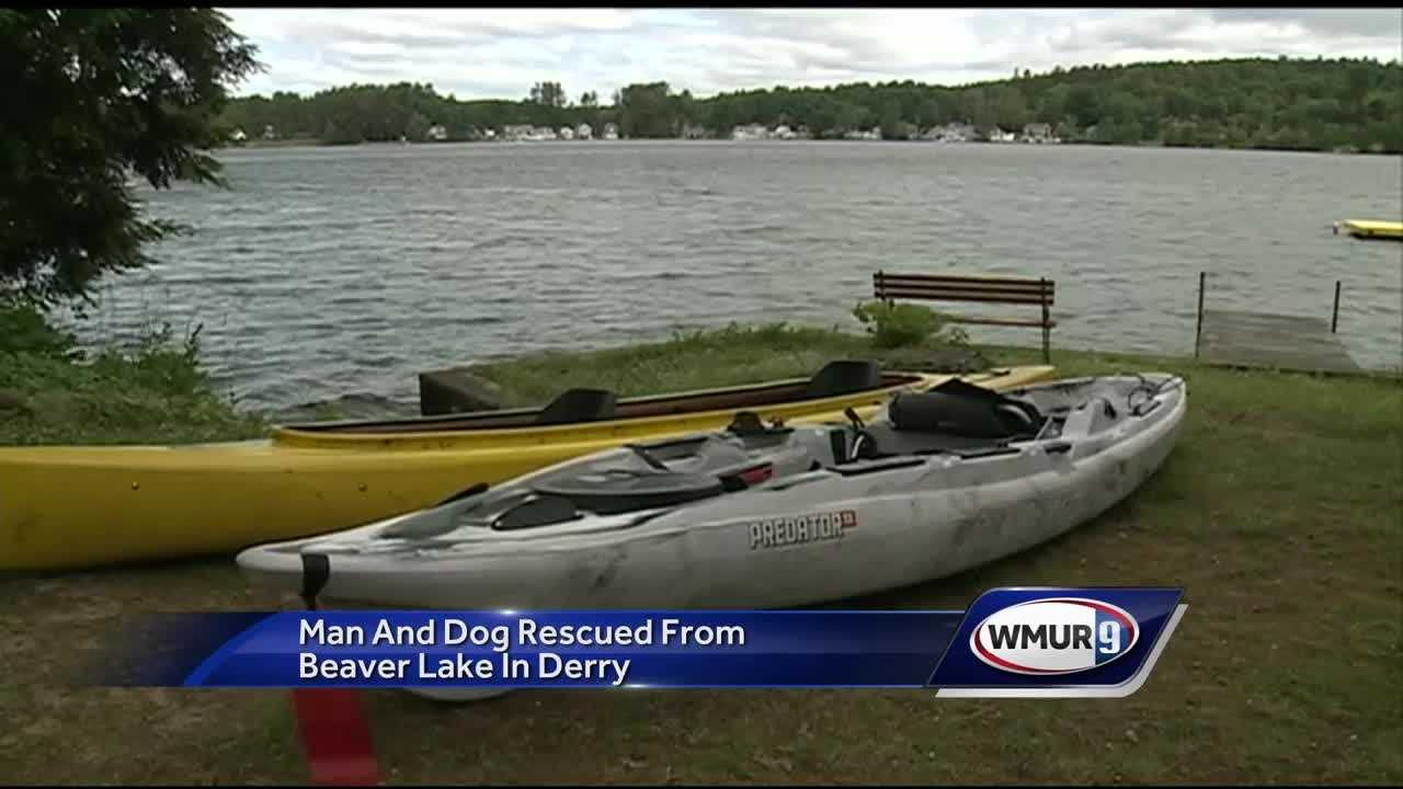 A man and his dog were rescued from the cold waters of Beaver Lake on Thursday morning after their kayak capsized.