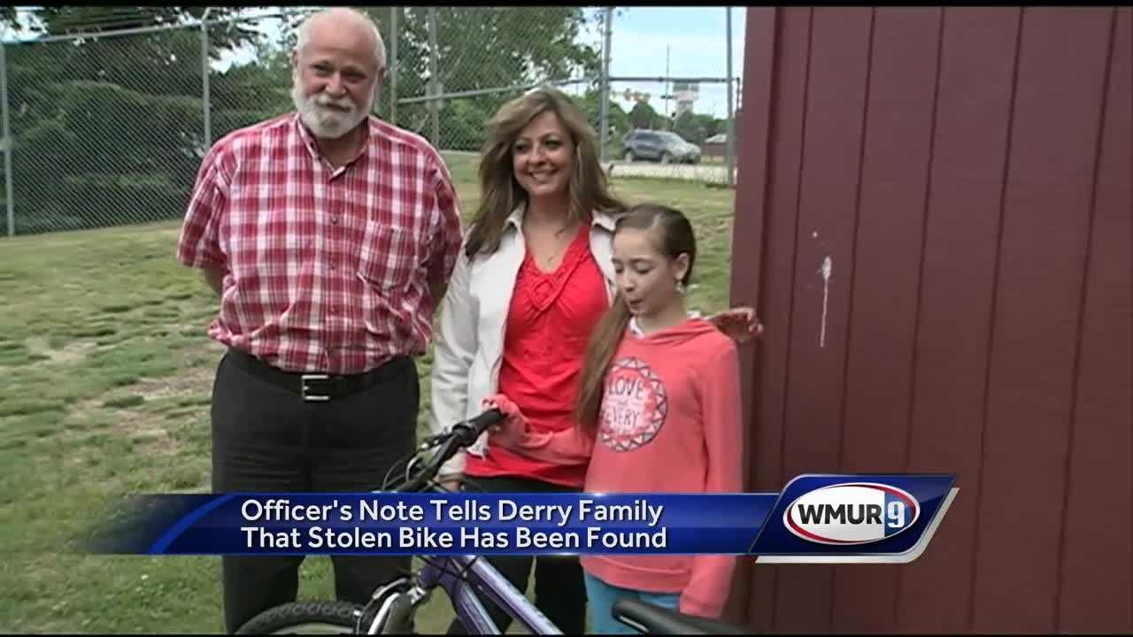 Police found the bike had been stolen before the family realized it was gone.