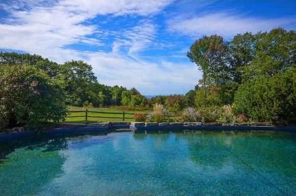 The view from the home's pool is stunning.