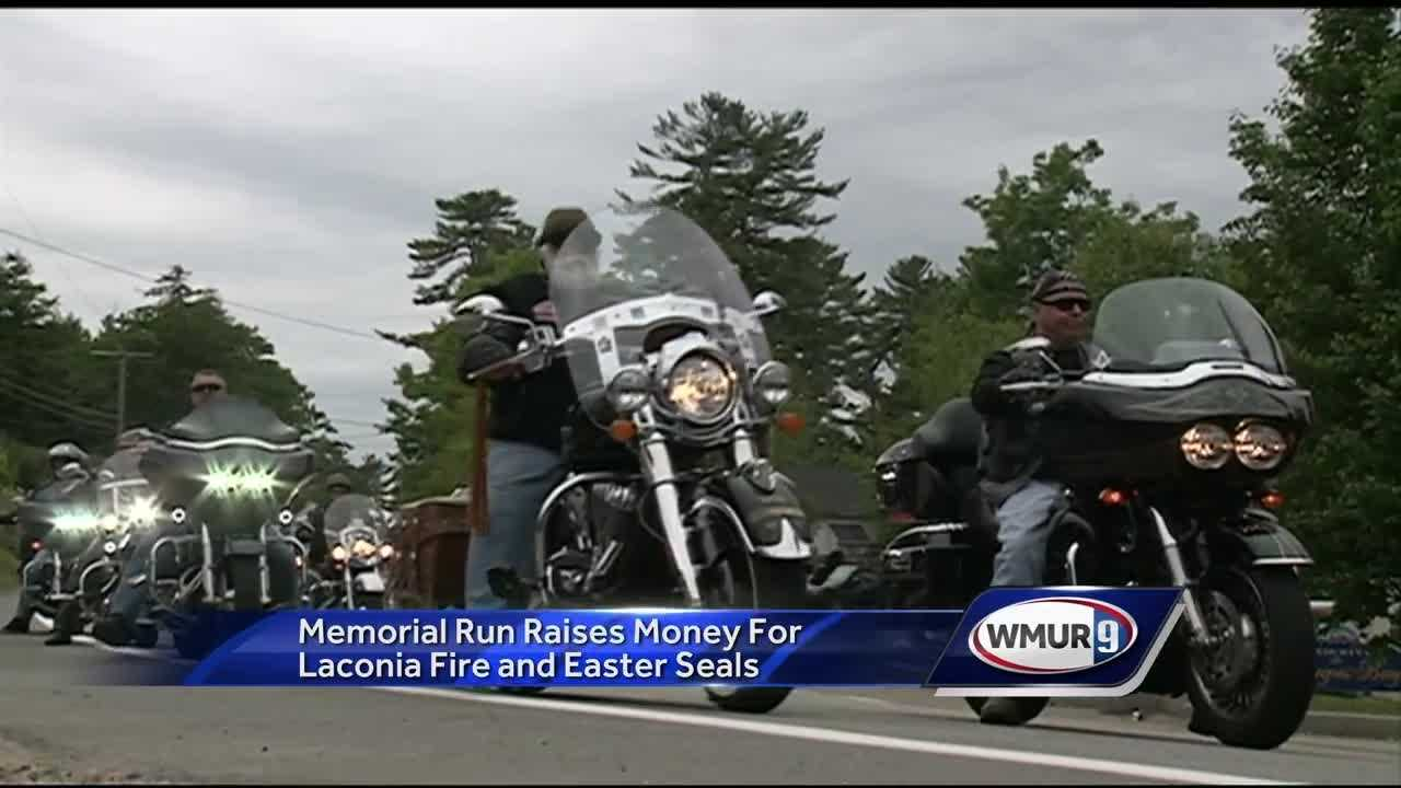 More than 200 bikers took part in the memorial run, which has raised more than $300,000 for the Laconia Fire Department and Easter Seals New Hampshire in the past 10 years.