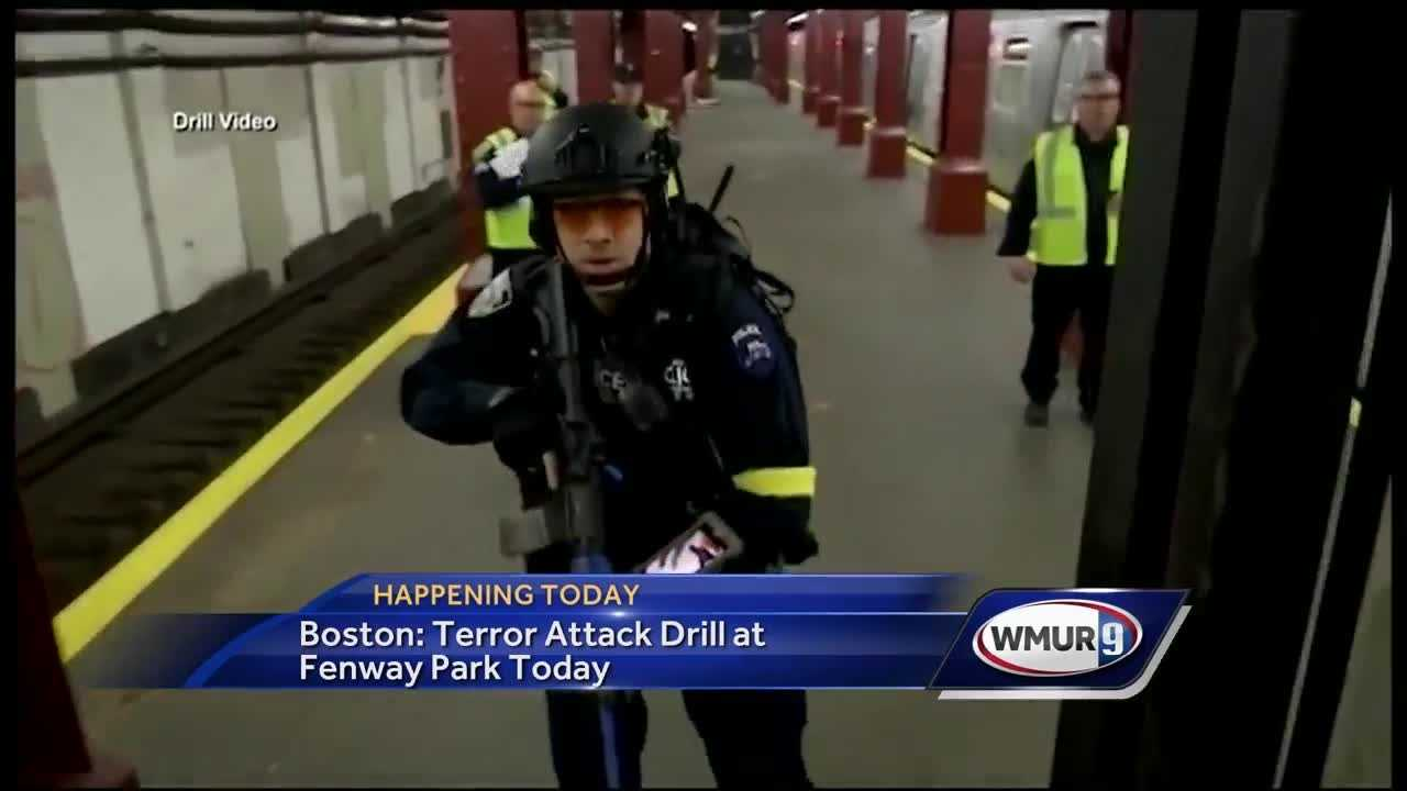 The city of Boston will have a terror attack drill at Fenway Park Sunday.