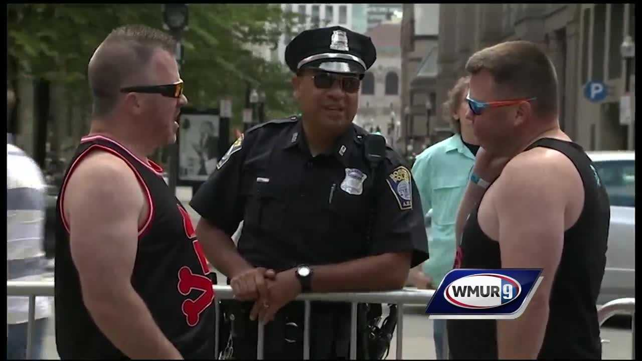 Police in Boston have stepped up their security at Boston Pride after the massacre at an Orlando gay club.