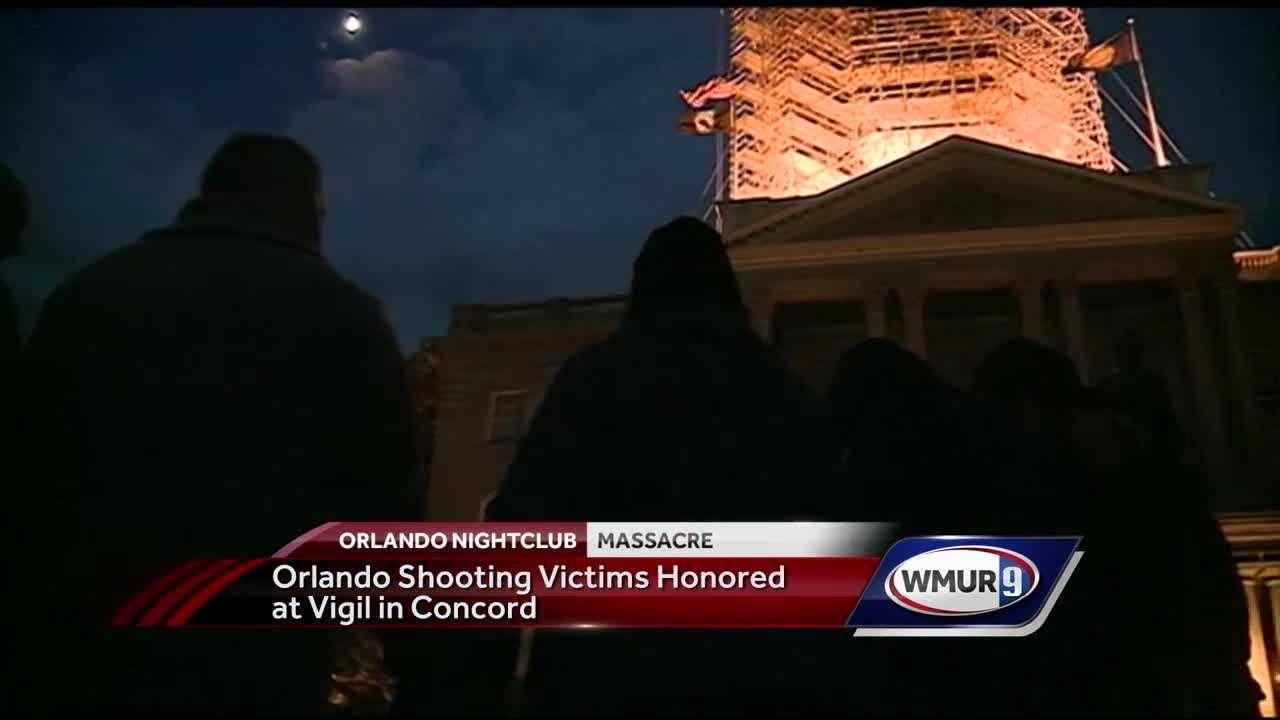 Granite Staters gathered in a circle outside the State House Sunday night, locking hands to mourn those killed in the Orlando, Florida, nightclub massacre, and reflect on the horror that took place.