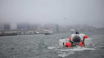 Cyclops submersible left from Boston under tow, heading to an area about about 50 miles south of Nantucket, where the Andrea Doria rests on the ocean floor about 240 feet down. The wreck has claimed the lives of 16 divers over the years.